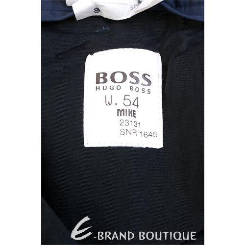 BOSS 仿舊鐵牌飾休閒長褲(深藍色) 0580023-23