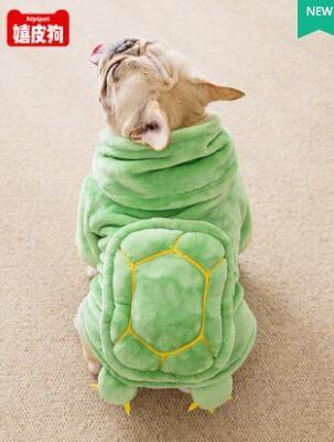 烏龜裝狗狗衣服秋冬裝小型犬法斗中型犬八哥搞笑搞怪冬季寵物加厚