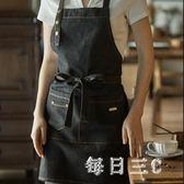 圍裙韓版時尚廚房成人防油純棉咖啡廳牛仔工作圍裙女 zm4456【每日三C】