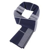 針織圍巾-羊毛商務斜條紋百搭男披肩2色73wi38[時尚巴黎]
