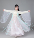 三生三世十里桃花古装 親子裝派對禮服長裙 萬聖節聖誕節表演服裝兒童造型服舞衣道具cosplay