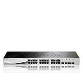 【限時至0331】D-Link 友訊 DGS-1210-28 24埠 10/100/1000BASE-T + 4埠 Gigabit SFP 智慧型 網管 交換器