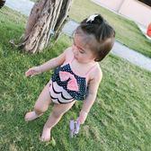 女嬰泳衣夏裝新款寶寶連身泳裝公主溫泉泳衣