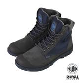 Palladium Pampa 藍灰色 防水 軍靴 皮質 高筒 男女款 NO.B1077【新竹皇家 73234-021】