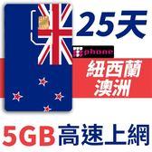 【TPHONE上網專家】紐西蘭/澳洲 25天 5GB 高速上網卡