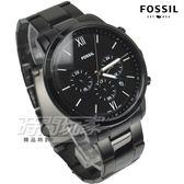 FOSSIL NEUTRA 公司貨 真三眼計時不鏽鋼防水手錶 男錶 日期視窗 IP黑電鍍 FS5474【時間玩家】