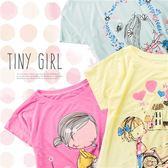 夏日女孩(一)~汽球貓咪美人魚拼字薄棉短袖上衣~3款(250512)★水娃娃時尚童裝★