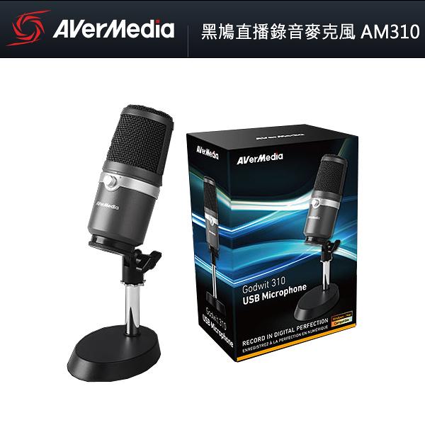 【免運費】AVerMedia 圓剛 黑鳩直播錄音麥克風 AM310