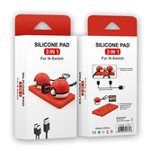 [哈GAME族]免運費 可刷卡●可放四張卡夾●iPlay NS HBS-133 精靈球矽膠保護墊 止滑墊 內附充電線