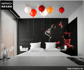INPHIC- 彩色氣球燈吸頂燈現代簡約創意臥室床頭幼稚園卡通兒童房間吸頂燈-A款_S197C