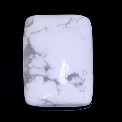 [協貿國際]天然白松石戒面DIY手工飾品配件(3入價)