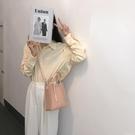 新款潮韓版休閒百搭斜背包果凍條紋側背子母手提包包 黛尼時尚精品