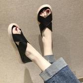 平底涼鞋 涼鞋女仙女風平底新款夏季果凍運動羅馬鞋兩穿交叉涼拖ins潮 魔法鞋櫃
