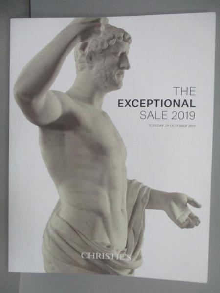 【書寶二手書T1/收藏_PPL】Christie s_The Exceptional Sale 2019/10/29