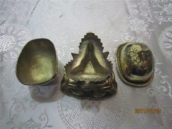 藏傳佛教法器 黃銅托巴 嘎巴拉 大號