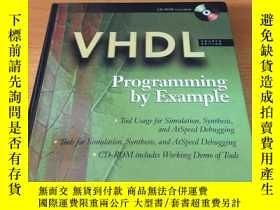 二手書博民逛書店VHDL罕見Programming by Example (編程