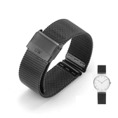 男女通用手表帶米蘭304不銹鋼精鋼金屬表鍊鋼帶18 20mm