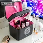 化妝箱女化妝師專用大容量化妝品收納箱手提大號雙層多功能化妝包 js13930『小美日記』