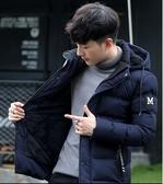 棉衣男士外套冬季年新款加絨加厚冬裝潮棉襖短款衣服羽絨棉服 深藏blue
