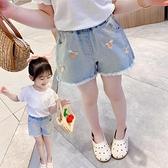 女童牛仔短褲 女童牛仔短褲夏季薄款洋氣新款時髦正韓休閒兒童外穿潮童-Ballet朵朵