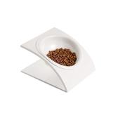 寵物碗貓碗貓食盆斜口貓咪食盆貓餐具小型狗碗密胺斜寵物餐桌 名創家居館