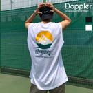背心 正韓 夏季山峰文字設計 平肩背心【PAA381】現貨+預購 Doppler