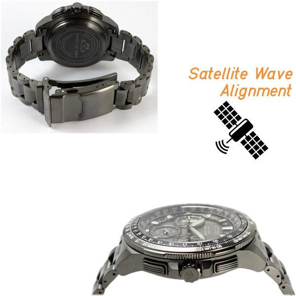 【萬年鐘錶】星辰 CITIZEN  Eco-Drive光動能 衛星 GPS定位對時 鈦金屬  限量款 CC9025-51E