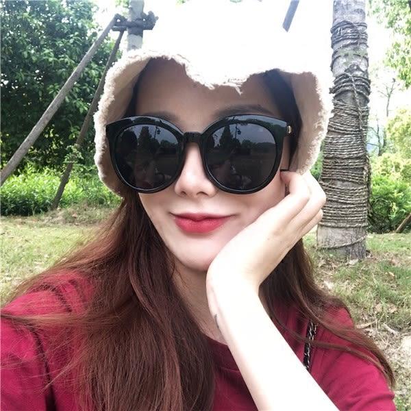 墨鏡女新款網紅明星圓臉大臉顯瘦個性復古簡約太陽眼鏡街拍潮【店慶8折】