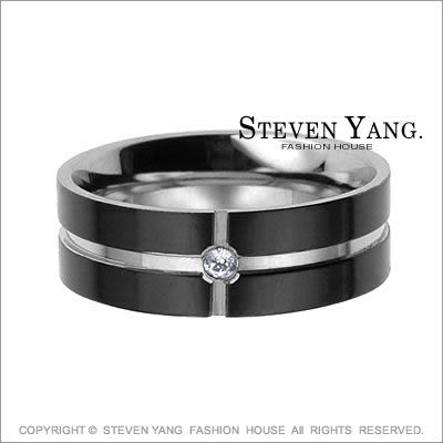 情人對戒 西德鋼飾 鋼戒指「愛的堅貞」鋯石*單個價格*