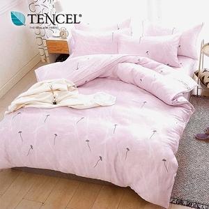 【貝兒居家寢飾】100%萊賽爾天絲兩用被床包組(特大/輕舞飛揚粉)