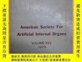 二手書博民逛書店英文書罕見american society for artificial internal organs 1979