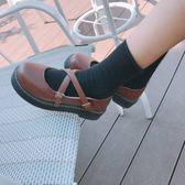 日系復古英倫小皮鞋原宿森女圓頭鬆糕娃娃鞋