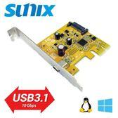 SUNIX USB3.1 Type C PCIe 1埠擴充卡
