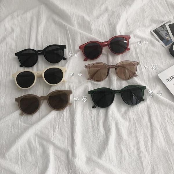 太陽鏡夏季新款韓版網紅個性圓臉眼鏡Ins男女復古圓形墨鏡潮