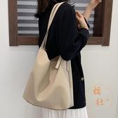大包女包包韓版側背包大容量高級感托特包【橘社小鎮】