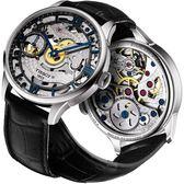 TISSOT 天梭 T-Classic 羅馬精湛鏤空手動上鍊手錶-銀x黑-42mm T0994051641800