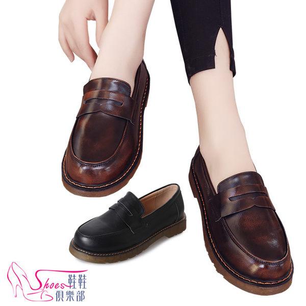 包鞋.預購.學院風亮皮耐走紳士鞋.2色.黑/棕【鞋鞋俱樂部】【054-V462】