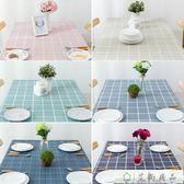 桌布 歐式格子防水防油防燙免洗桌布