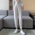 高腰休閒褲子年新款夏季直筒寬松哈倫褲女顯瘦百搭束腳長褲潮 衣櫥秘密
