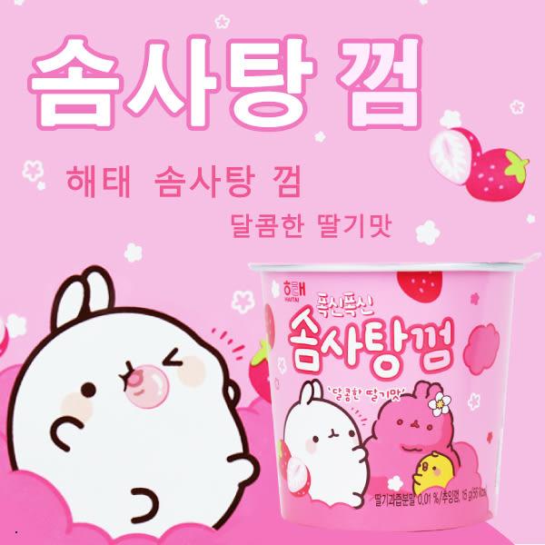 韓國 Haitai 海太 明星兔 棉花糖口香糖 草莓口味 15g【櫻桃飾品】【28669】