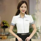 短袖OL襯衫~*艾美天后*~白襯衫職業女...