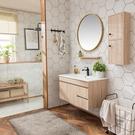 北歐浴室櫃 組合現代簡約 洗臉盆 衛浴櫃實木衛生間洗漱台洗手池面盆 快速出貨