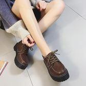 原宿風冬季新款韓版百搭學院小皮鞋女復古英倫學生鞋
