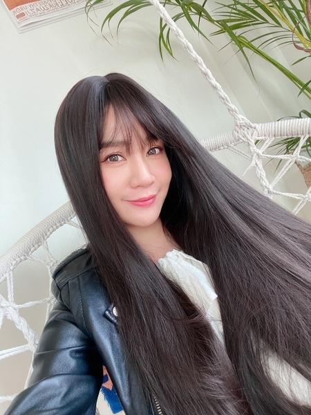 韓系全頂假髮 時尚冷棕 髮色霧面 一刀剪長直髮 高品質假髮 C8268 魔髮樂