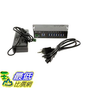集線器 Coolgear USB 3.0 7-Port Industrial Hub Metal Case Din-Rail GL Chip, 12 Volt 5amp Power