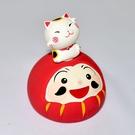 達摩不倒翁與招財貓 陶瓷 日本作舍出品 9.5cm