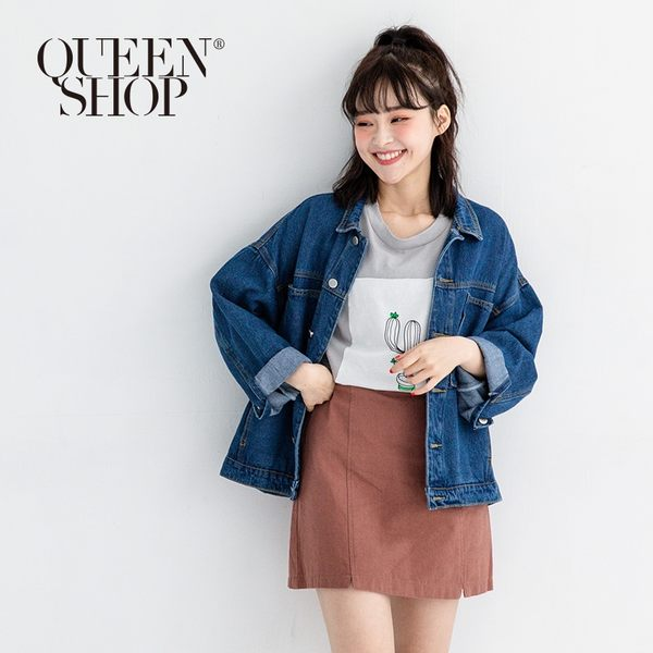 Queen Shop【02050236 】雙大口袋設計牛仔外套*現+預*