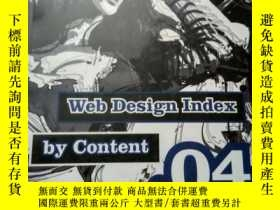 二手書博民逛書店Web罕見Design Index by Content 04【