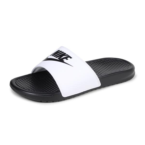 NIKE 拖鞋 BENASSI JDL 白黑 黑白 陰陽 拖鞋 運動 男 (布魯克林) 818736-011