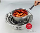 烤肉架 圓形無煙燒烤爐木炭烤肉爐鍋韓式碳烤爐戶外室內外商用家用便攜式 igo 第六空間